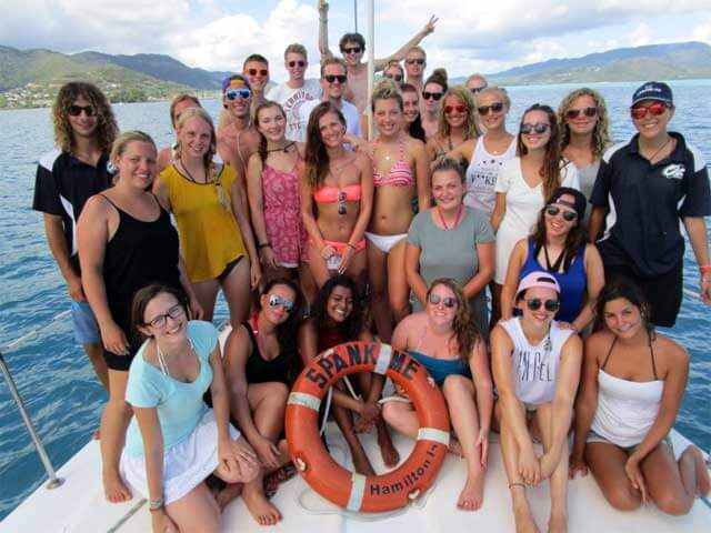 Guests-on-Spank-Me-Whitsundays-Bow